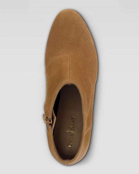 Miriam Short Suede Boot, Camel