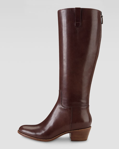 Wesley Tall Cushioned Boot, Chestnut