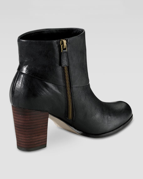 Cassidy Leather Bootie, Black