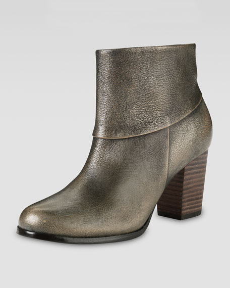 Cassidy Leather Bootie, Metallic