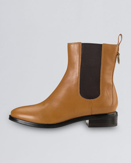 Evan Air Short Waterproof Leather Boot, Camello