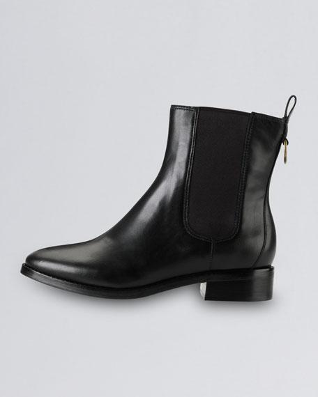 Evan Air Short Waterproof Leather Boot, Black