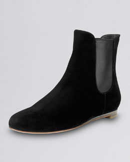 Cole Haan Astoria Short Suede Flat Boot, Black