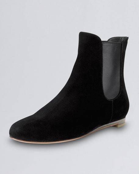 cole haan astoria suede flat boot black