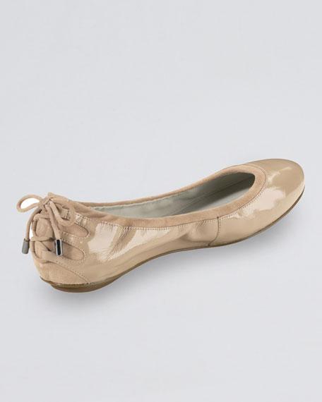 Air Bacara Patent Ballerina Flat, Sandstone