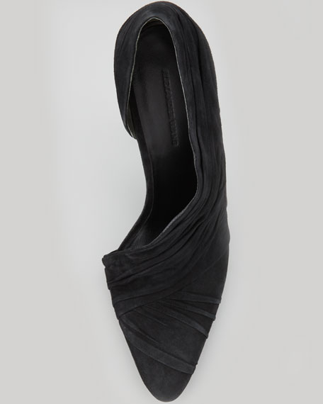 Marcelia Suede Runway Pump, Black