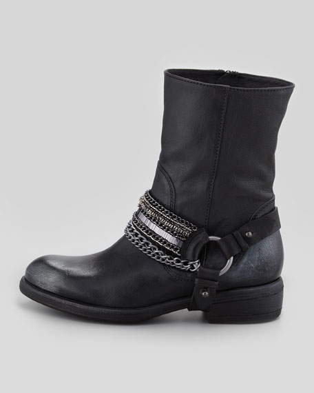 Valencia Moto Leather Boot, Black