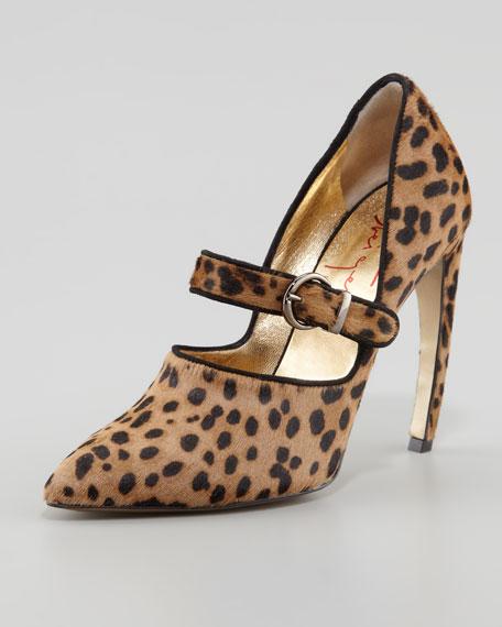 Vigo Buckled Leopard-Print Pump