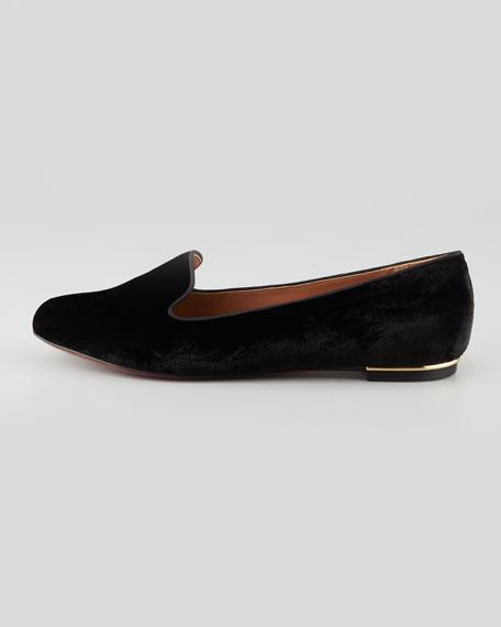 Zahara Velvet Smoking Slipper, Black
