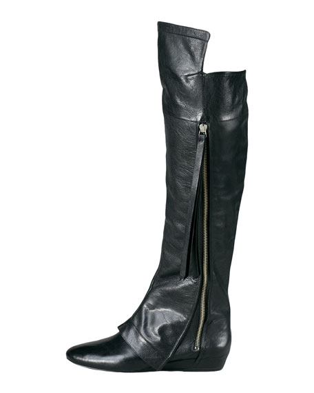 Loden Over-the-Knee Boot, Black