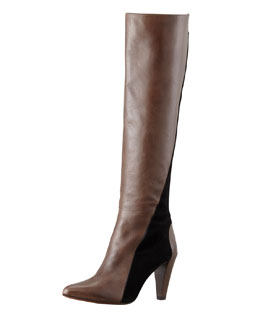 10 Crosby Derek Lam Sammie Two-Tone Knee Boot