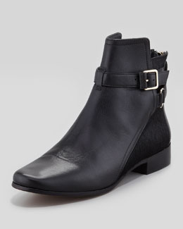 Diane von Furstenberg Keith Calf Hair & Leather Ankle Boot, Black