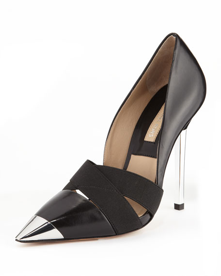 Ana Metal-Cap-Toe Strappy Pump