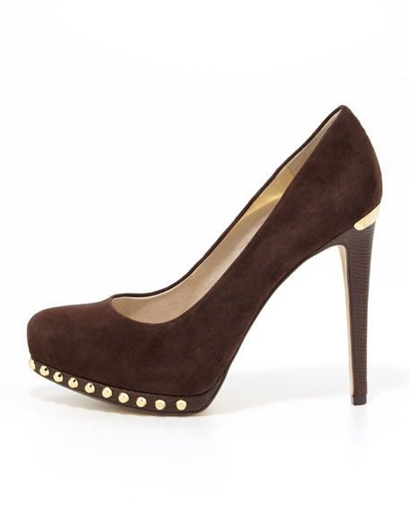Ailee Studded Suede Pump