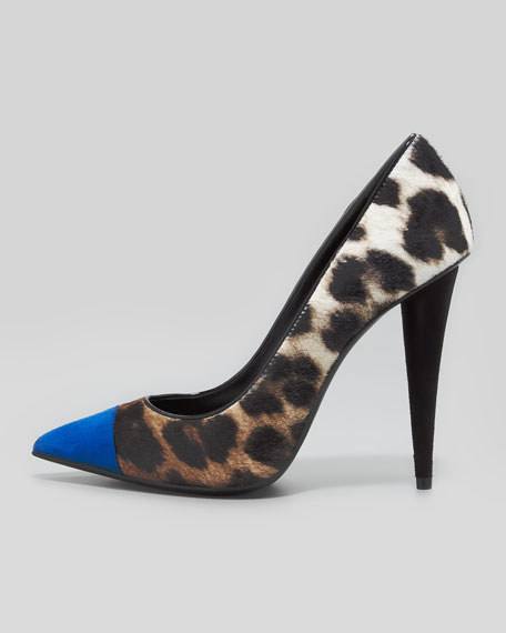 Giuseppe Zanotti Animal Print Pointed-Toe Pumps