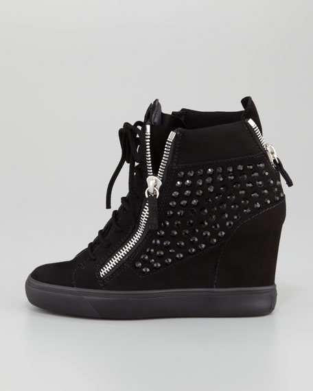 2053ac0329e Giuseppe Zanotti Rhinestone Wedge Sneaker