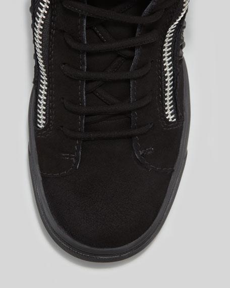 Rhinestone Wedge Sneaker, Black