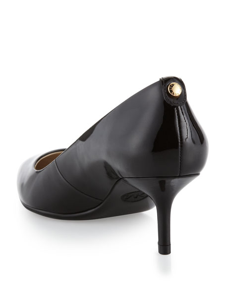 Flex Patent Kitten-Heel Pump