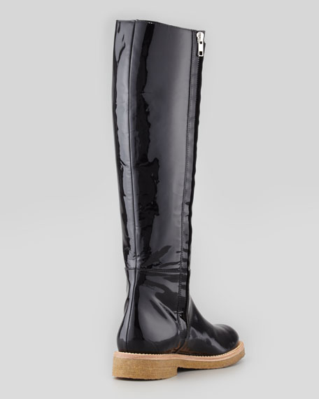 Patent Knee-High Boot