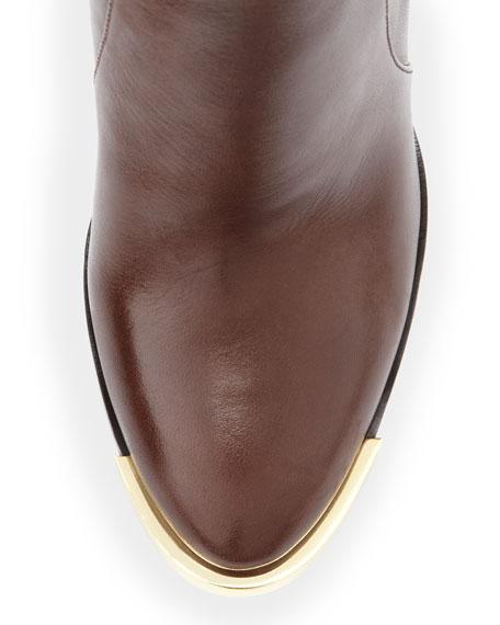 Jayla Buckle-Heel Knee Boot