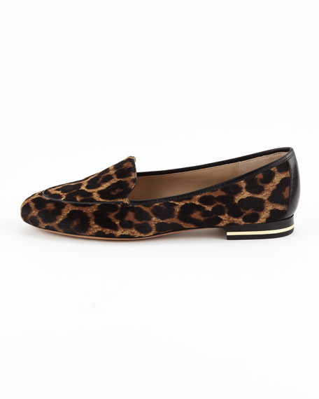 Jeslyn Calf-Hair Smoking Slipper