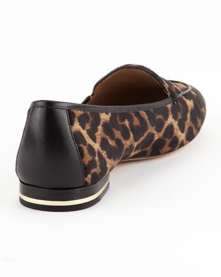 Jeslyn Calf-Hair Smoking Slipper