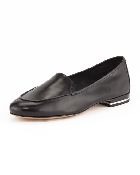 Jeslyn Leather Smoking Slipper