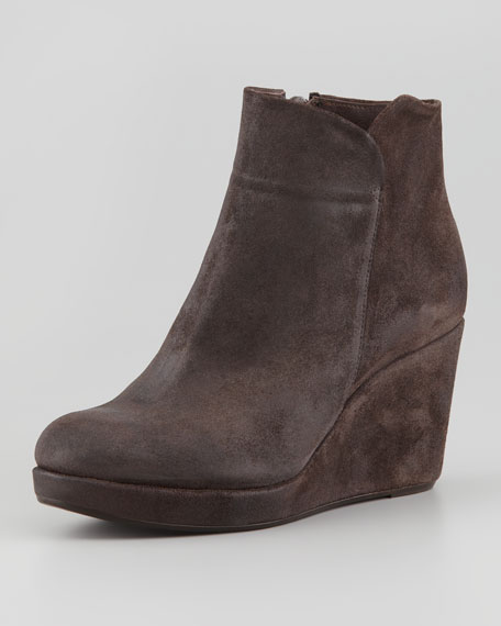 Hayleigh Suede Wedge Bootie, Brown