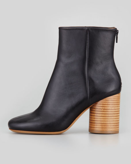 outlet newest Maison Martin Margiela Leather Round-Toe Ankle Boots buy cheap pay with visa free shipping footlocker pictures sale sale online best cheap online y0J70cR