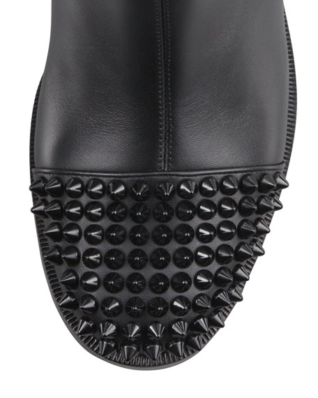 Egotina Spike Red-Sole Boot, Black