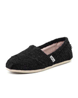 TOMS Boucle Slip-On, Black