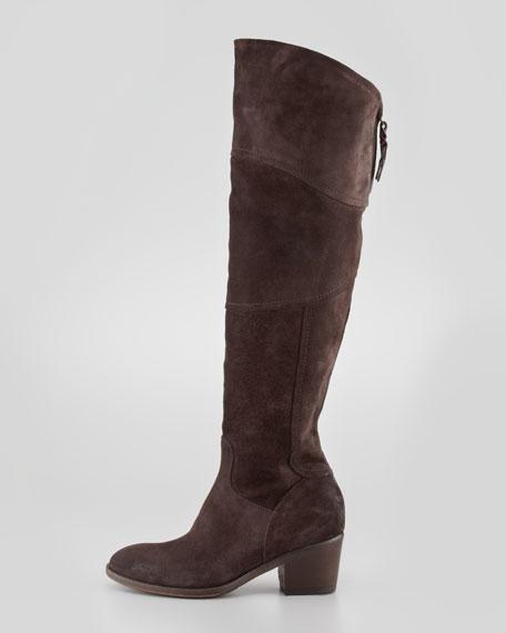 Circio Suede Knee Boot, Brown