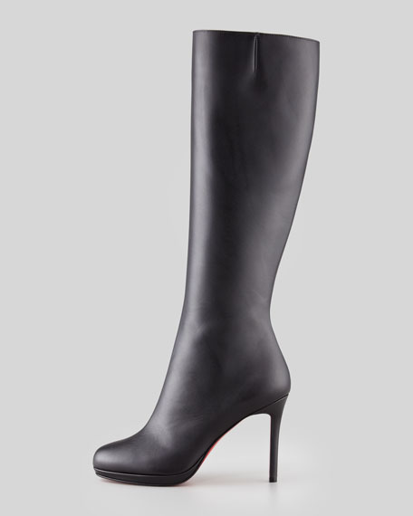 quality design e156c 175f5 Botalili Leather Red-Sole Knee Boot Black