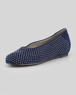 Eileen Fisher Patch 2 Suede Studded Slipper, Midnight