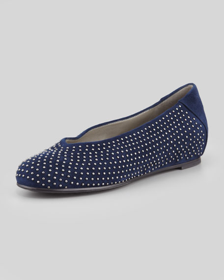 Patch 2 Suede Studded Slipper, Midnight