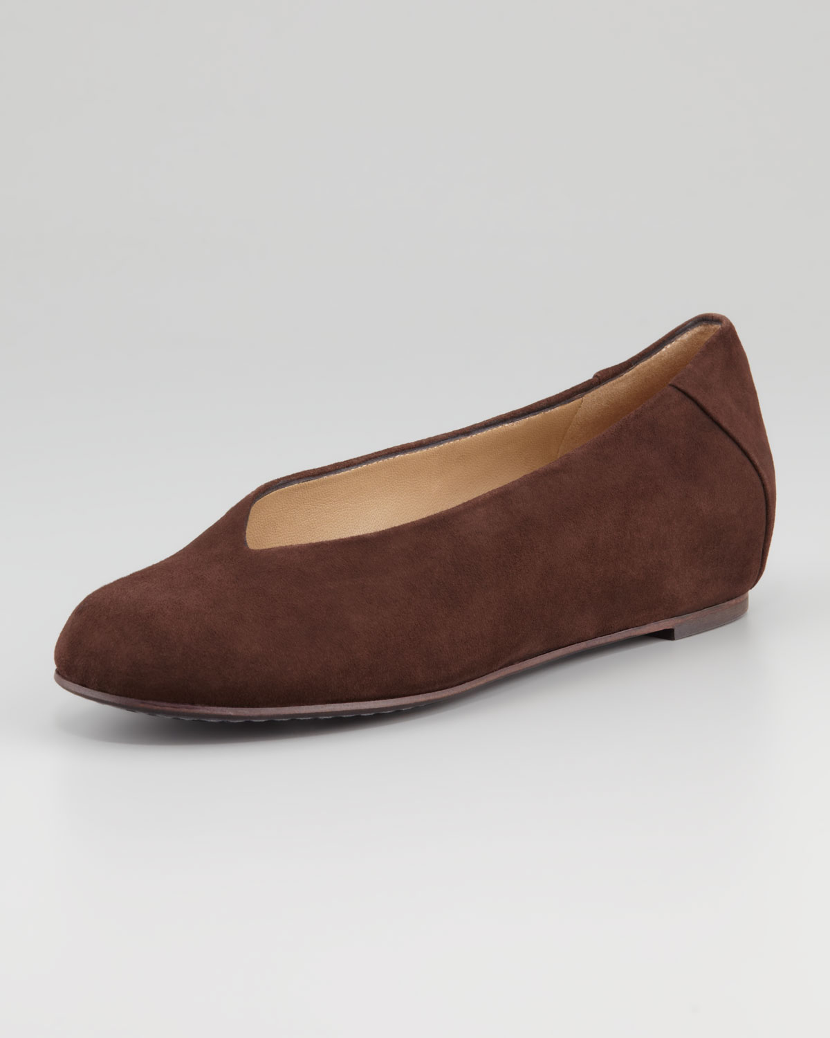 Patch 1 Suede Flats, Brown