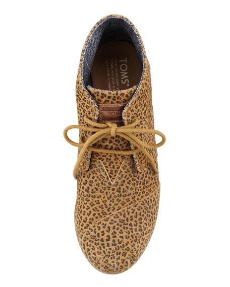 Cheetah-Print Wedge Desert Boot