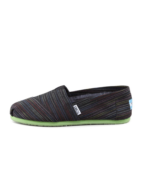 Lime Pop Striped Slip-On
