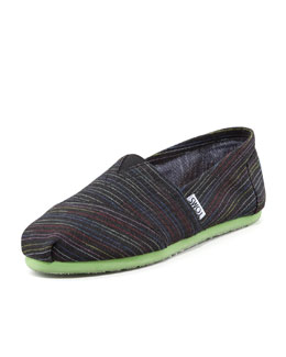 TOMS Lime Pop Striped Slip-On