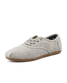 TOMS Cordones Hemp-Blend Lace-Up, Gray