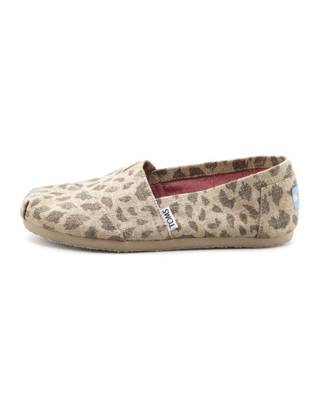 Leopard-Print Hemp Slip-On