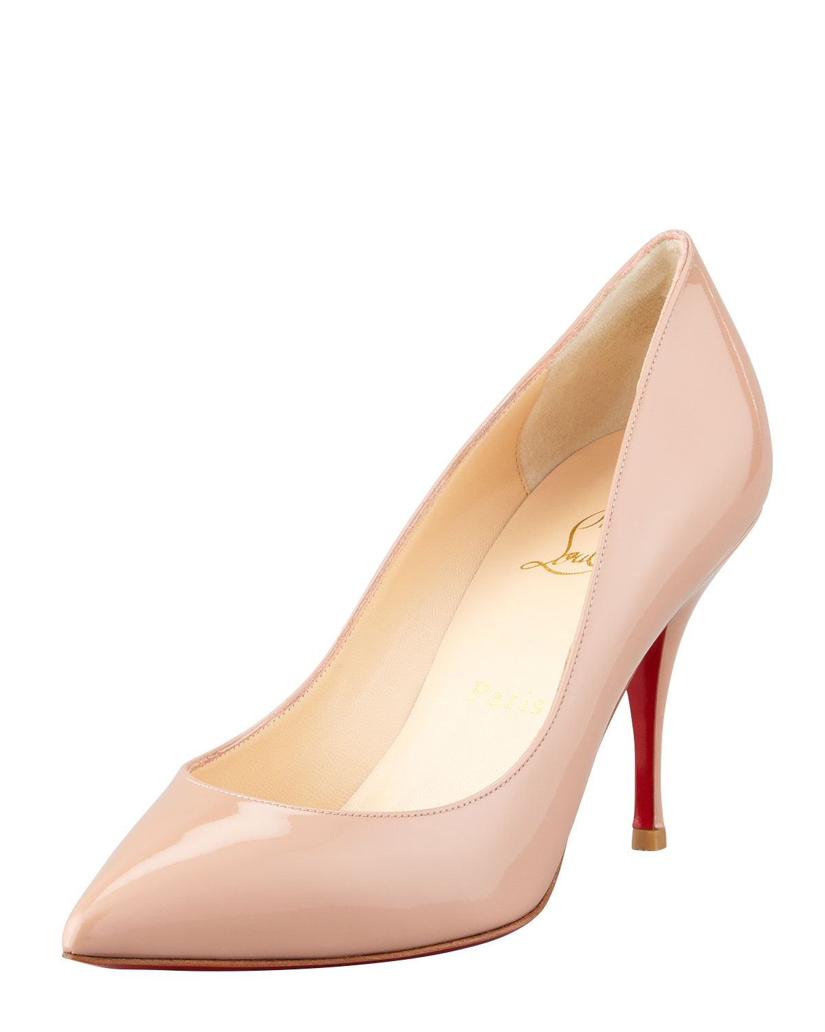 Christian Louboutin Piou Piou Patent Point-Toe Red Sole