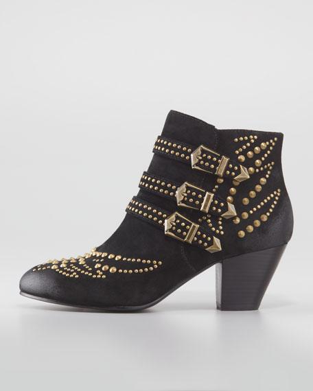 Joyce Studded Ankle Boot, Black