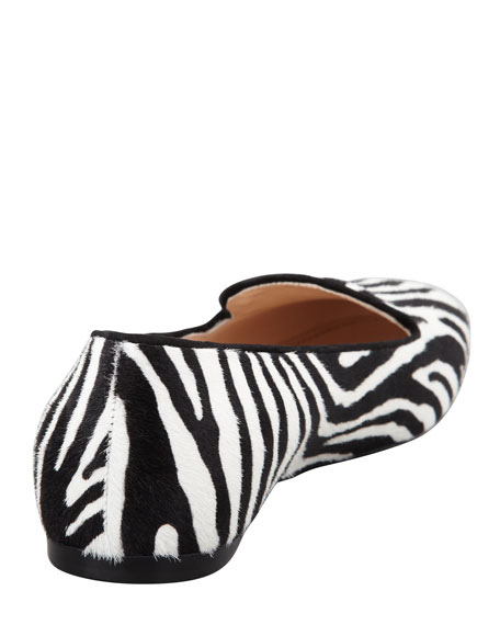 Zebra-Print Calf Hair Loafer