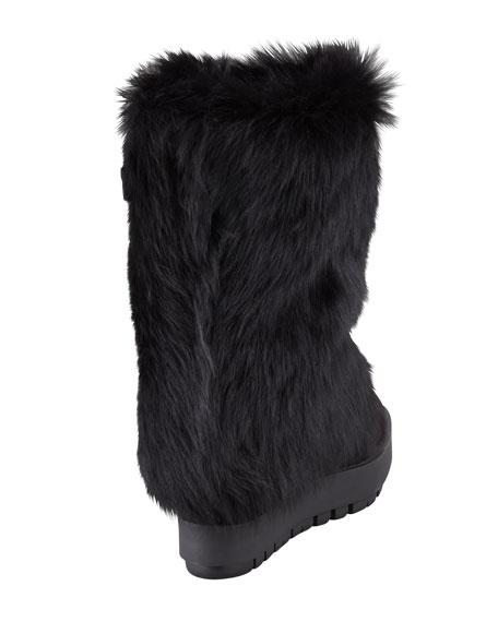 Zip Wedge Shearling Boot