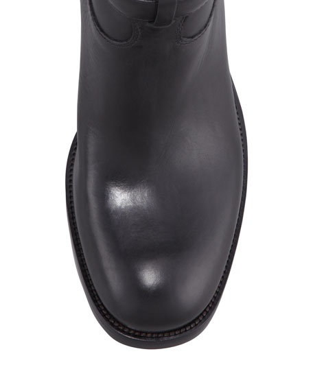 Tall Logo Riding Boot, Black