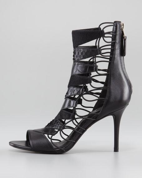 Elody Mixed-Media Gladiator Sandal