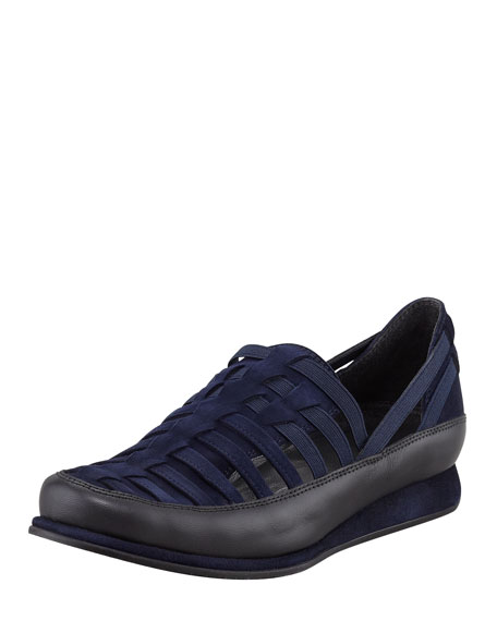 Move In Strappy Elastic Sneaker, Blue/Black