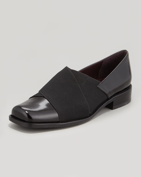 Recover Leather and Elastic Loafer, Black