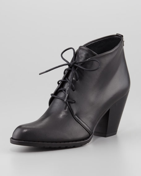 Safari Leather Lace-Up Bootie